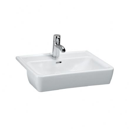 812961 - Laufen Pro 560mm x 440mm Semi-recessed Washbasin - 8.1296.1
